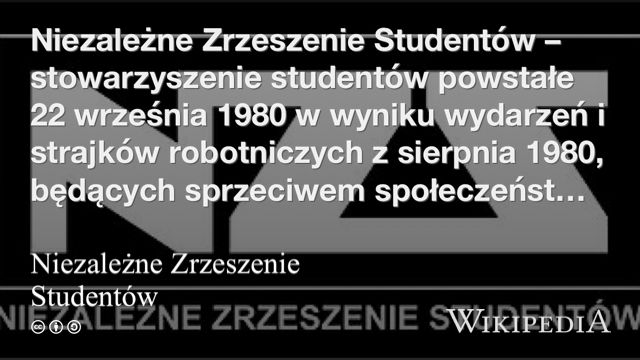 """""""Niezależne Zrzeszenie Studentów"""" på @Wikipedia:"""