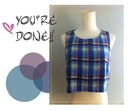 DIY Ella S. crop top by Sew Be It Studio! Super cute!