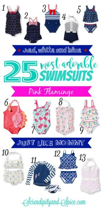 Most Adorable Toddler Girl Swimsuits ~ 25 modest yet stylish bathing suits for little girls http://serendipityandspice.com