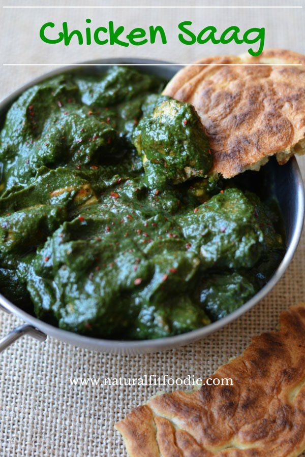 Chicken Saag (curry chicken with spinach) A tasty combination of chicken and spinach. Chicken Saag is a delicious North Indian traditional dish.