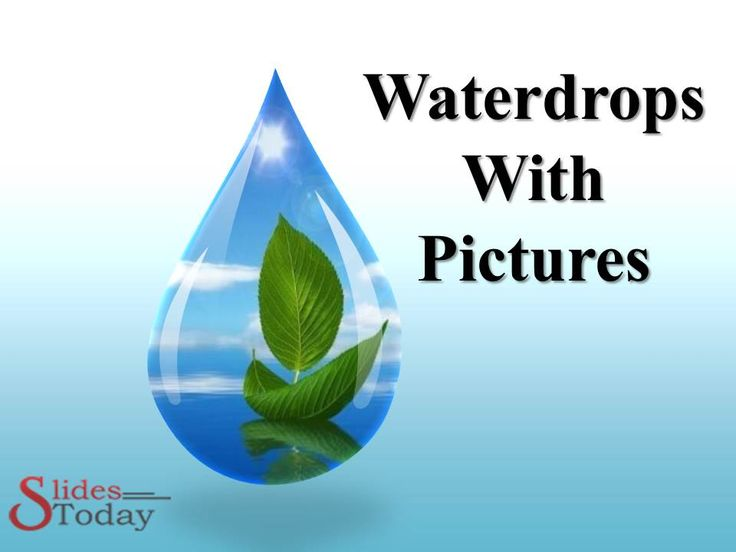 #waterdrops PPT Template