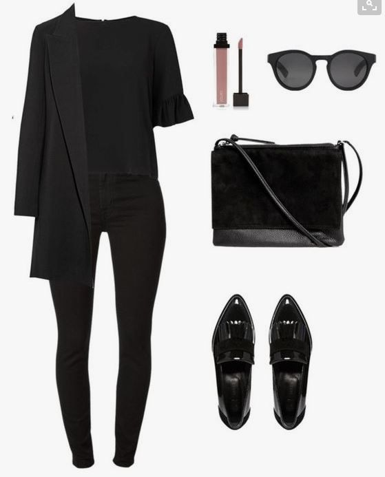Chic and elegant. Black on black.