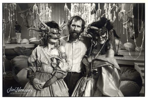 Jim on the ballroom set with two masked dancers; one is his daughter Cheryl. Photo by Nancy Moran.