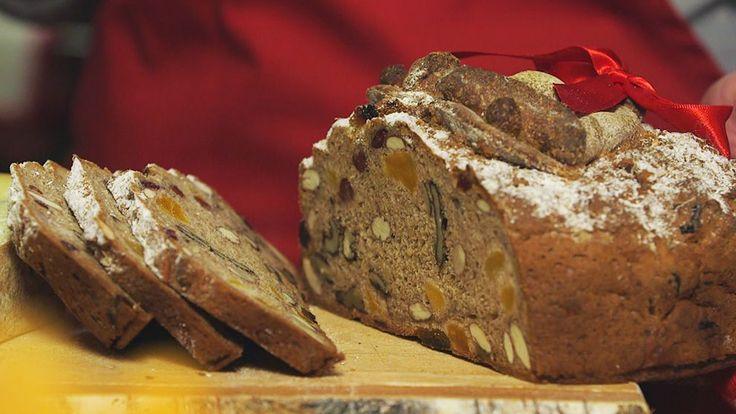 Frukt- och nötbröd. Lättbakat gott och saftigt bröd med torkad frukt och nötter.
