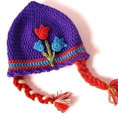 Cappellino bambina con le trecce - anna