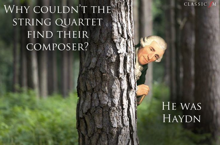 Haydn joke and other classical music jokes.