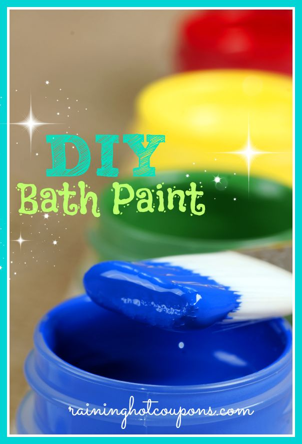 DIY Bathtub Paints, its time for more than just two colors, looks like I'm gonna have to get busy with this recipe soon!