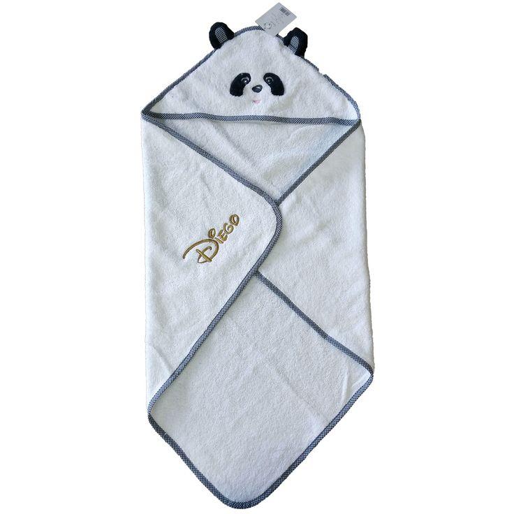 Cape de bain bébé personnalisée brodée Diego #capedebain #disney