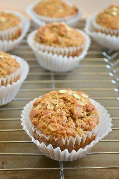 Spelt banana muffins (Yummy without the sugar at all in, or could reduce or replace with rice malt syrup)