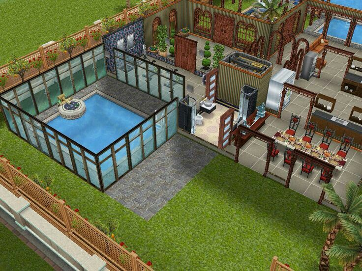178 best images about the sims freeplay house designs on for Pool design sims 3