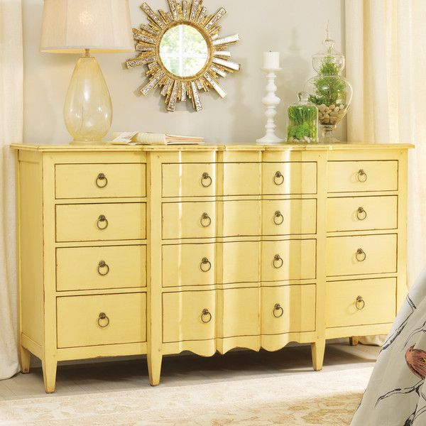 Somerset Bay St Simons Dresser 6 204 Liked On Polyvore Featuring Home Furniture Storage Shelves And Dresser Yellow Furniture Furniture Yellow Dresser