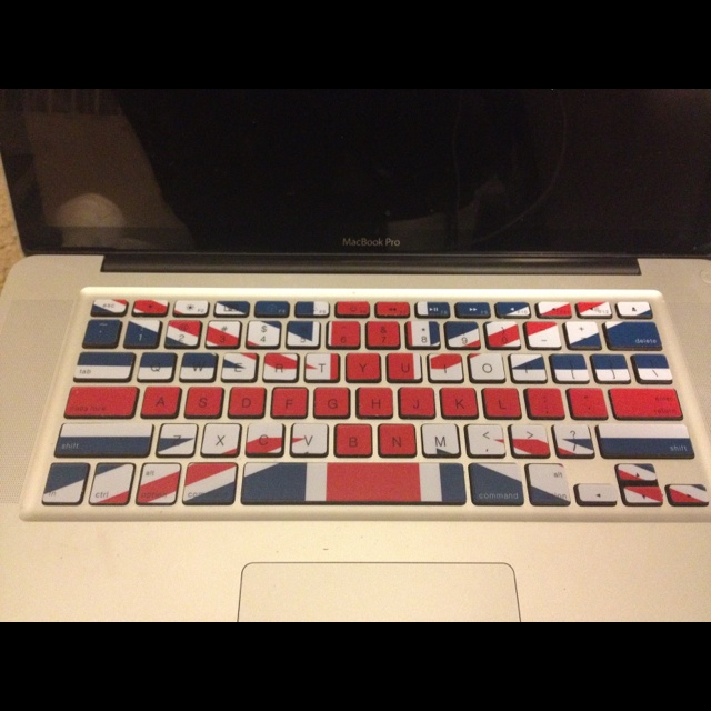 My lovely keyboard. This took forever to do and people assume I'm an insane Anglophile when they see it, but it's beautiful.