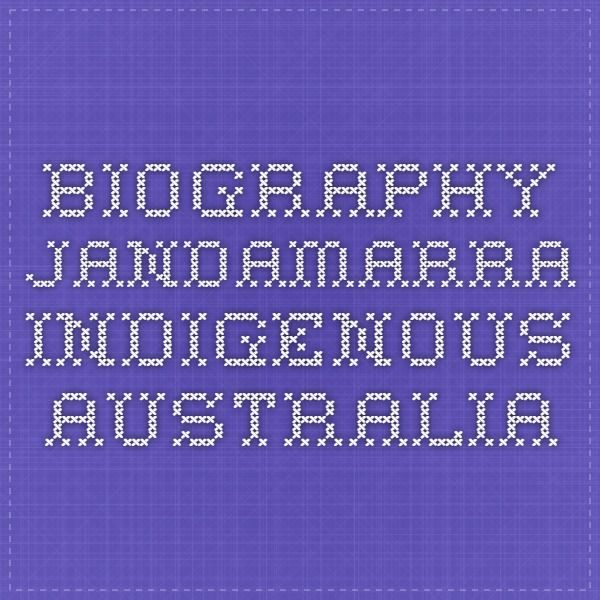 Biography - Jandamarra - Indigenous Australia