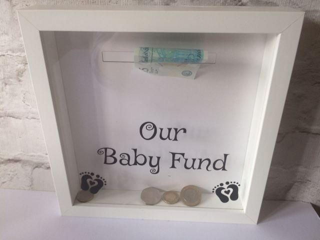 Baby Fund Money Box Frame, Baby saving frame, baby money box, Personalised Money box frame, Money box, savings box, by SilverLilyDesignsUK on Etsy