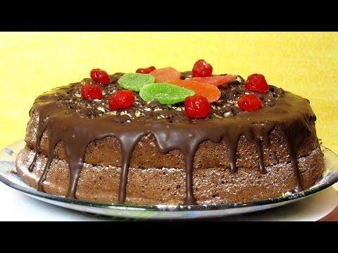 Как приготовить шоколадный бисквит из четырех ингредиентов - простой домашний рецепт для начинающих - YouTube
