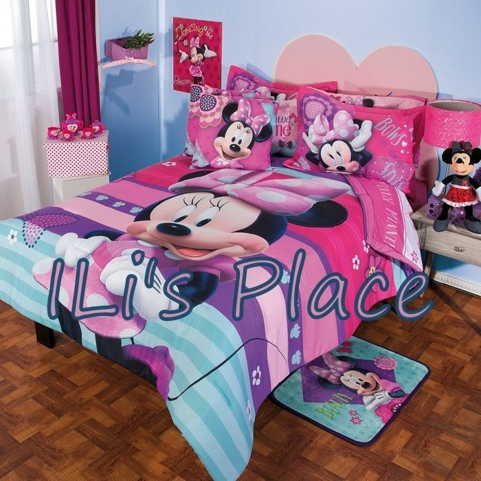 twin full and queen girls and teens disney minnie mouse comforter set