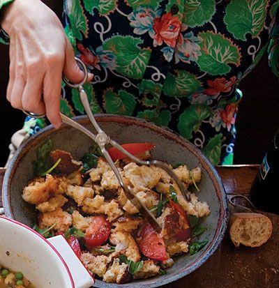 Panzanella (Bread and Tomato Salad) @ Saveur.com: Italian Salad, Chicken Salad, Breads Salad, Tomatoes Salad, Salad Recipe, Summer Salad, Panzanella Breads, Rustic Italian, Country Breads