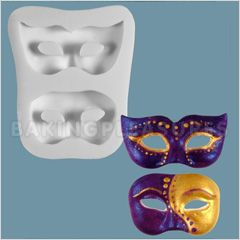 Masquerade Masks Sugarcraft Silicone Mould...perfect for coloring silver and putting on top of cupcakes