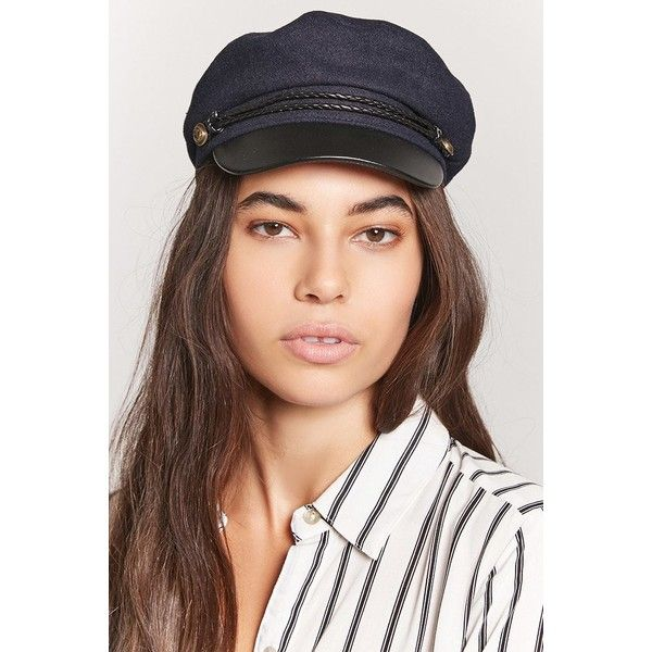 Forever21 Wool-Blend Cabby Hat ($15) ❤ liked on Polyvore featuring accessories, hats, forever 21, brimmed hat, nautical hat, woven hat and forever 21 hats
