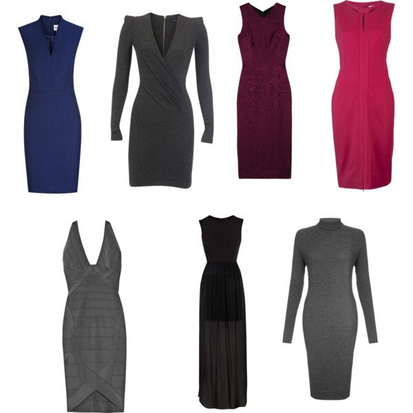 Kibbe Dramatic Dresses by angstgirl on Polyvore featuring French Connection, Ports 1961, Diane Von Furstenberg, Hervé Léger, Reiss, L'Wren Scott and Warehouse