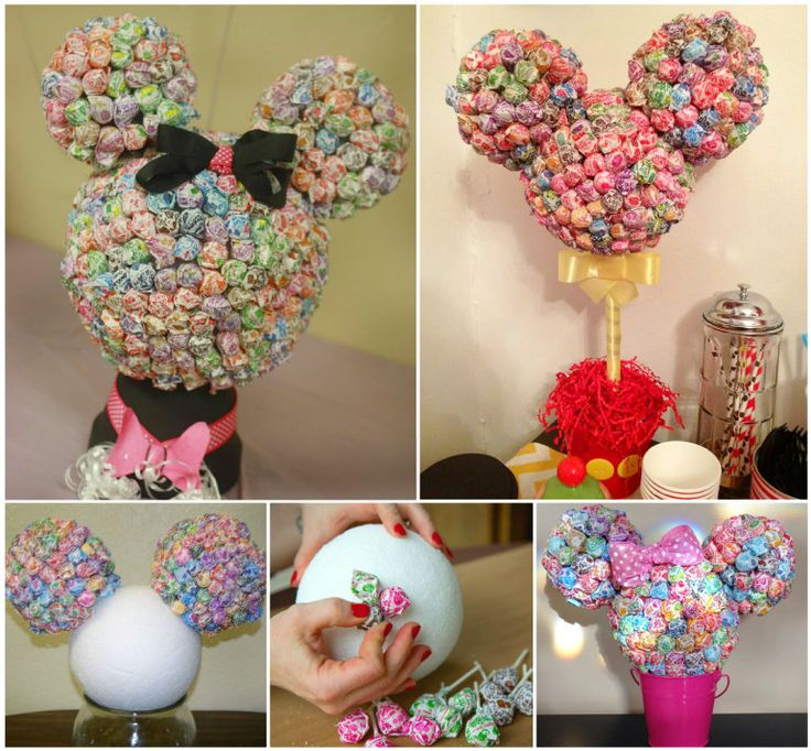The Perfect DIY Minnie Mouse Lollipop Tree - http://theperfectdiy.com/the-perfect-diy-minnie-mouse-lollipop-tree/