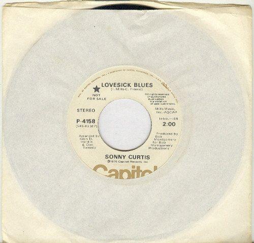 Sonny Curtis 45 rpm Lovesick Blues by vinylplus on Etsy