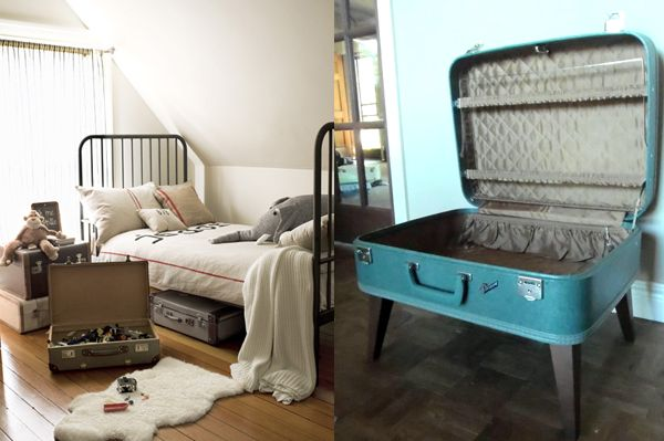 I would totally use a vintage suitcase as a toy box! Great idea!