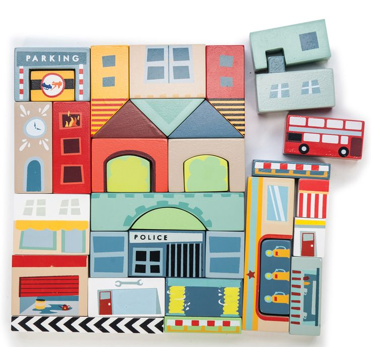 Le Toy Van Timber Town Blocks