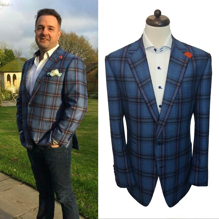 Here's another happy client looking exceptionally great in his 100% wool, sky blue & coppertrack windowpane blazer! Thanks for the photo Mark!  We love seeing photos of clients wearing our clothing out & about! Got any pictures? Send them to us!  #photo #bespoke #shirt #blue #sky #check #wool #wow #pattern #tailors #tailoring #picture #brand #luxury #england #uk #alderleyedge #professional #london #houston #texas #quality #casual #send #thanks #cheshire #wedding #dream #alterations #design…