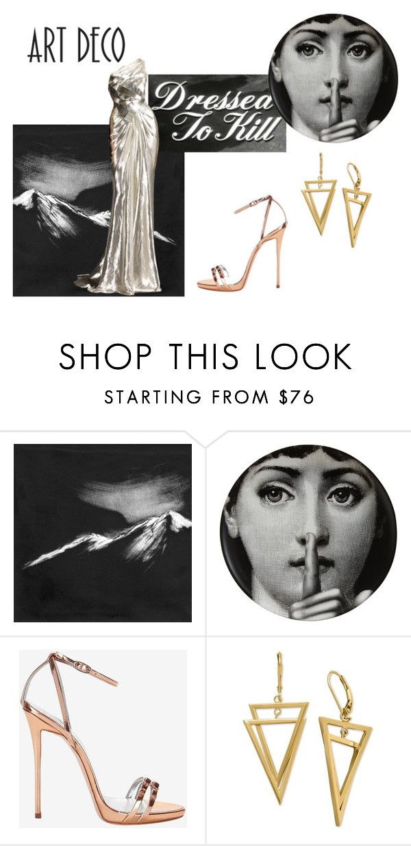"""""""Metropolis Godess 6"""" by clararucula ❤ liked on Polyvore featuring Eleanor Long, KEEP ME, Fornasetti, Versace and Giuseppe Zanotti"""