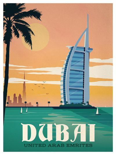 Image of Vintage Dubai Poster