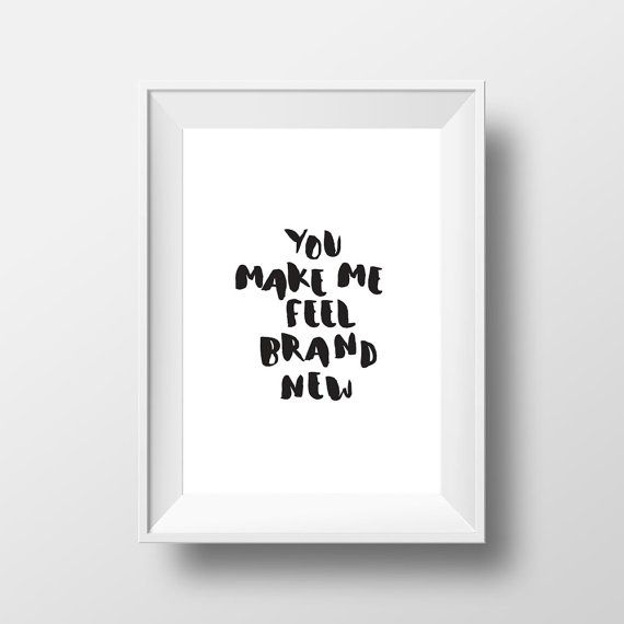 Quotes Print, Wall Print, Black and White, Typography Quotes, Wall Prints…