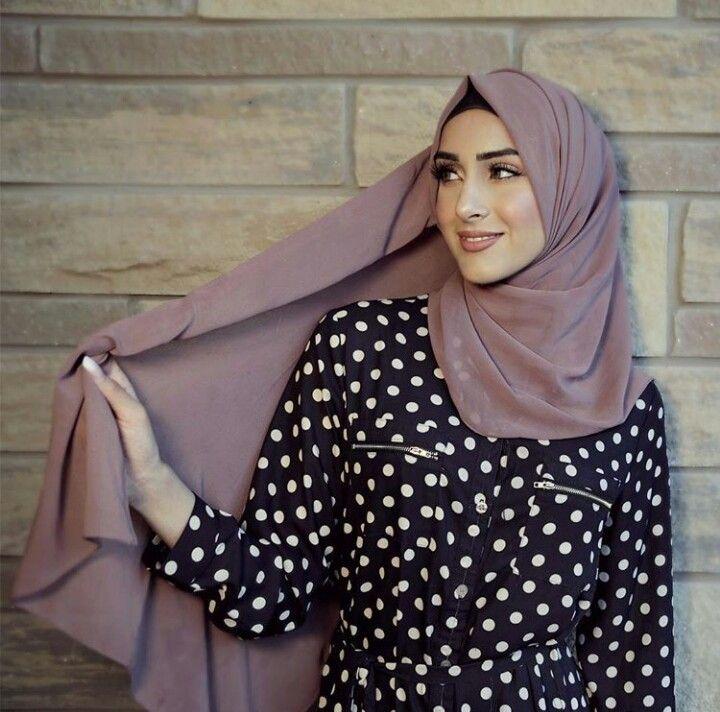 Queen Froggy Polka Dot Shirt Dress Hijab Fashion Fashion