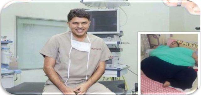 Доктор Muffazal Lakdawala работают на египетских женщин '500кг приход к Мумбаи для непредвиденной чрезвычайной операции