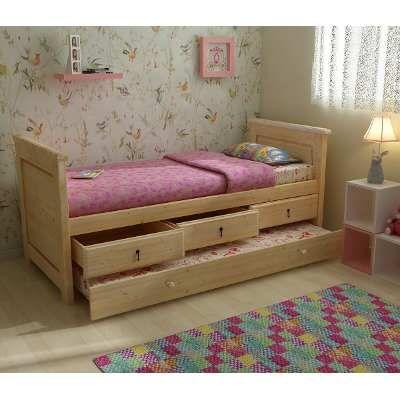 cama juvenil infantil con cajones y carro