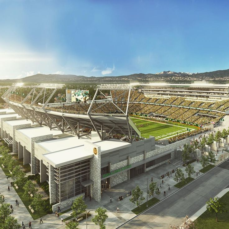 New rendering of the stadium coming to Colorado State University's campus Fall 2017.