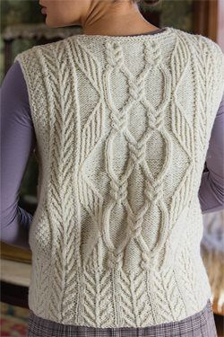 Tree of Life Aran Vest - Media - Knitting Daily
