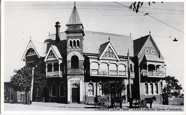 Chardons Corner Hotel on Ipswich Rd,Annerley, Queensland (year unlnown).