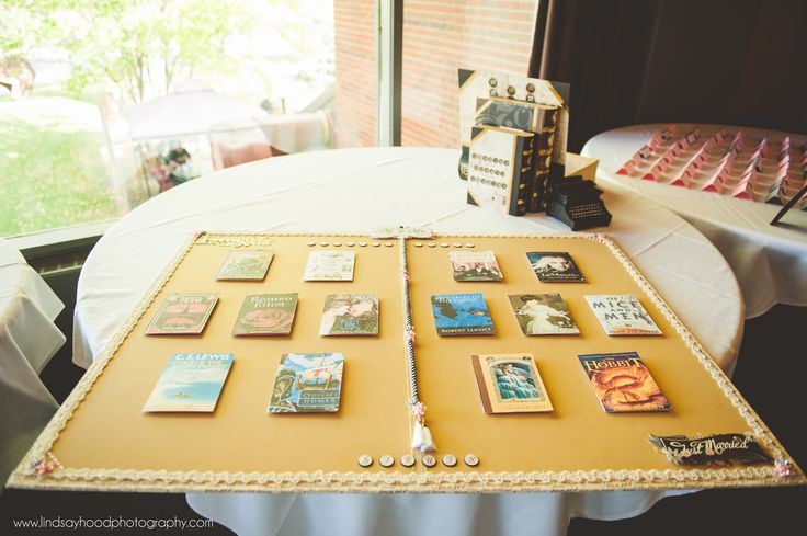 Seating chart. Cards open up to reveal guest names!