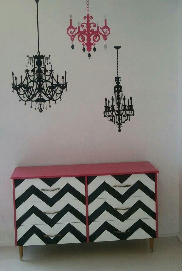 desain furnitur unik modern minimalis motif chevron