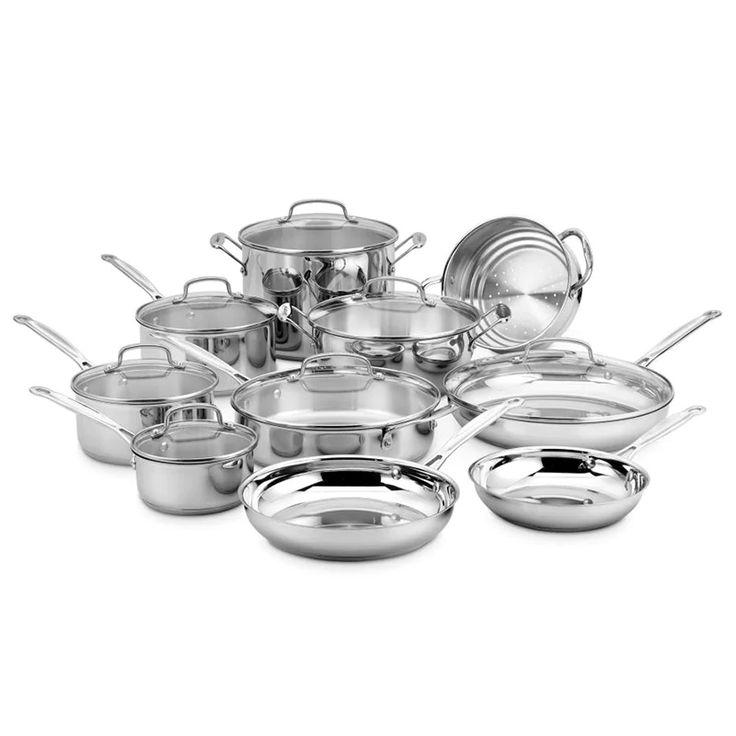 Cuisinart chefs classic 17 piece cookware set stainless