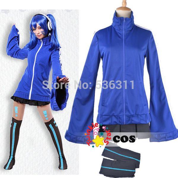 Kagerou Project MekakuCity Enomoto Takane cosplay costume Halloween sexy costumes blue fancy suit for women cosplay