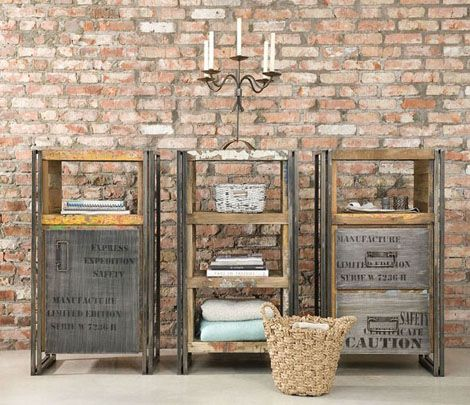 reclaimed wood and crates