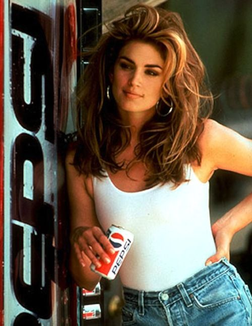 cindy crawford - This commercial was the beginning for me... This hair color, this hair length and that body... well, still working on the body part. :)