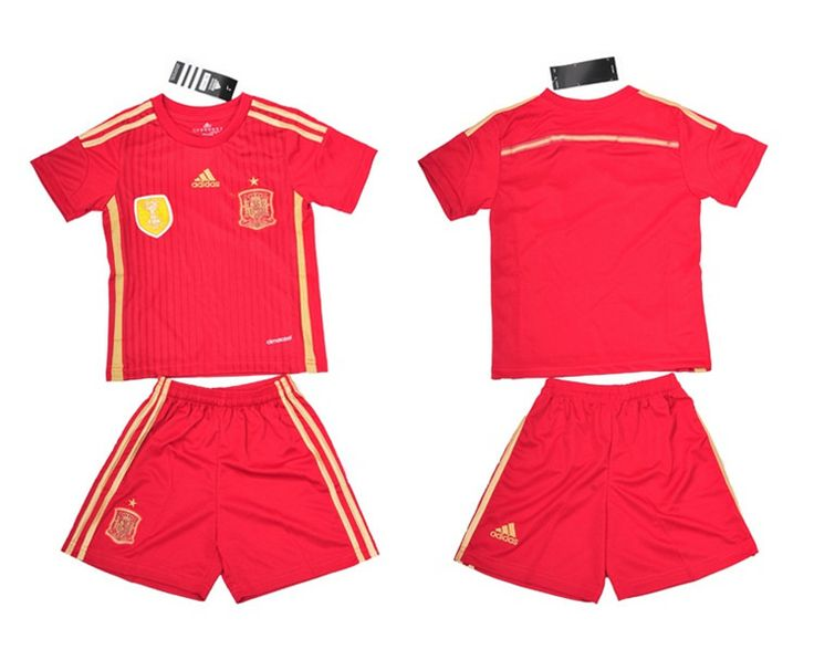 Spagna Maglie Calcio Mondiali 2014 Bambini Set Casa