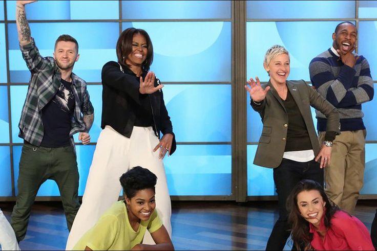 Michelle Obama sur le plateau du talk-show de Ellen DeGeneres