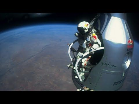 "Felix Baumgartner's 23-mile jump sponsored by Red Bull camptured the attention of more than 8 million people on youtube, peoving that shocking ads work. All I can think is, ""Where are my wings?"""