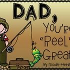 """Help say """"Happy Father's Day"""" with this fun fishing pole craft and card! Your kids will love making the fishing pole and dads will love the sweet sentiment."""