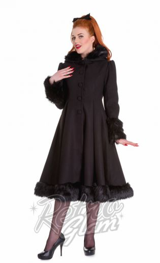 Hell Bunny coats are all in for the season.  Grab your favorite online including the beautiful Elvira coat available in 3 different colors. Available in sizes XS-4XL for beautiful bodies of all sizes  #pinup #retro #coat #retroglamclothing #retroglam #rowenaedmonton #holidays2015 #dress #vintageinspired #hellbunny #plussize #fashion #curvygals