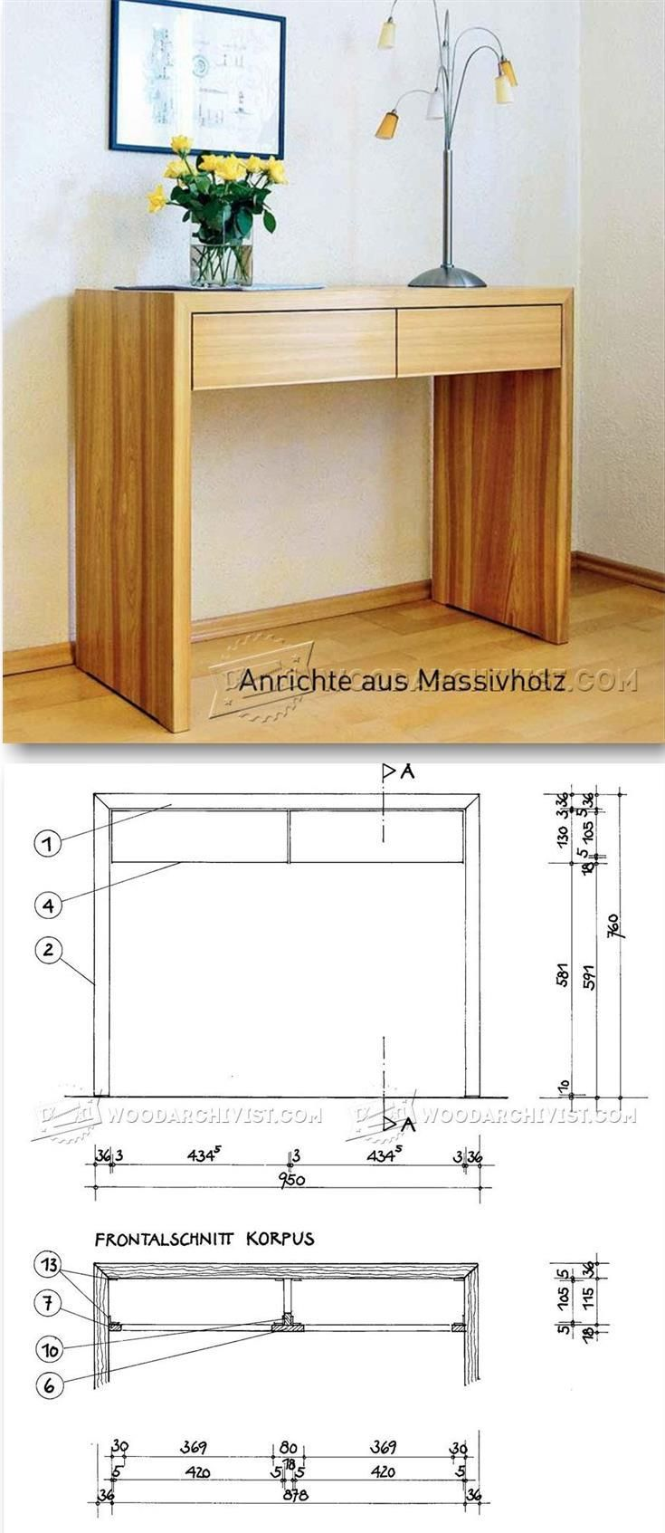Sideboard Plans - Furniture Plans and Projects | WoodArchivist.com